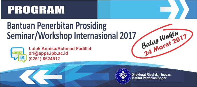Program Bantuan Penerbitan Prosiding Seminar/Workshop Internasional 2017