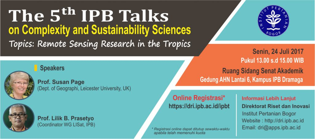 The 5th IPB Talks On Complexity And Sustainability Sciences